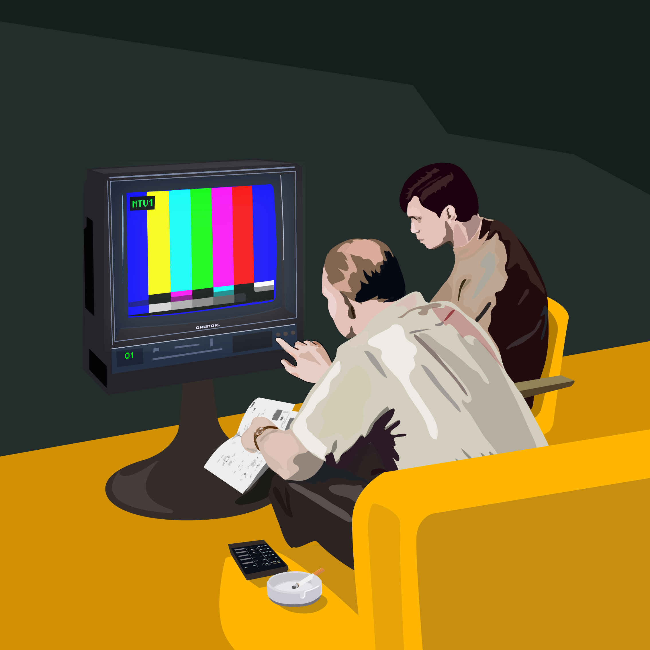 Kádár János segít beprogramozni apámnak az új színes tévénket
